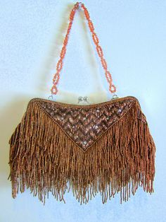 LOVE this antique beaded evening purse....