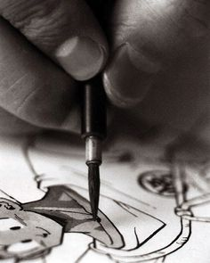Akira #Toriyama inking #Goku! (Photo Credit: unknown) #akiratoriyama #dragonball #dbz #manga #anime