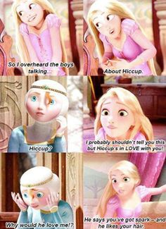Mericcup, I just love how the last line is what Calcifer says in Howl's Moving Castle<-- XD Disney And Dreamworks, Disney Pixar, Rapunzel, Merida And Hiccup, Jack Frost And Elsa, Frozen And Tangled, The Big Four, How To Train Your Dragon, Cute Disney