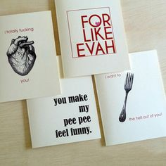 The Lover's Cards Set Of 4 now featured on Fab.