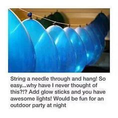 Balloon glow stick string lights