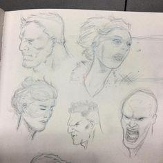 """60 curtidas, 2 comentários - Leonardo Menezes (@leonardomenezes) no Instagram: """"#sketch #sketchbook #drawing #practice #pencils #draw #heads #comics"""""""