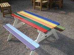 Nemo: Our Iroko children's picnic table.