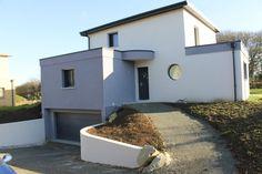 Haus Am Hang, Hillside Landscaping, Bungalow, Architect House, Architecture Details, Home Projects, Future House, House Plans, Villa