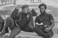 Black Panthers, Free Huey Rally, Bobby Hutton Memorial Park, September 22, 1968 — in Oakland, California.  Photo credit: Pirkle Jones / University of California, Santa Cruz