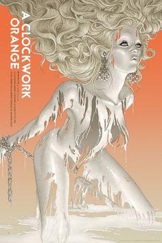 Mondo, A Clockwork Orange by Rory Kurtz is a 24″ x 36″ screenprint, has an edition of 300.