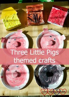 Three Little Pigs themed crafts - Little Hearts Big Love Three Little Pigs themed crafts for toddlers and preschoolers - Little Hearts, Big Love Should you enjoy arts and crafts a person will really like this website! 3 Little Pigs Activities, Preschool Crafts, Preschool Activities, Daycare Crafts, Nursery Rhyme Crafts, Nursery Rhyme Theme, Nursery Rhymes, Toddler Art, Toddler Preschool
