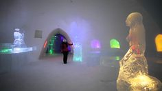 """Levi Ice Gallery: Luvattu maa bar and hotel in Lapland in Finland - """"Promised land"""" in Finnish Lapland - Levi Ice hotel, bar and Ice restaurant. Jäägalleria ..."""