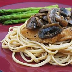 Chicken Breasts with Balsamic Vinegar and Garlic Recipe. made this tonight with Sarah & Dan. did not dredge in flour and added angel hair pasta tossed with olive oil, bread crumbs, pepper & parsley
