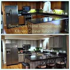 Attractive Kitchen Cabinet Refacing Before And After 2015