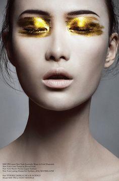 Glass Magazine, Issue #11 (Autumn 2012). Photo by Bojana Tatarska. Hair by Yusuke Taniguchi. Make-up by Alice Ghendrih.