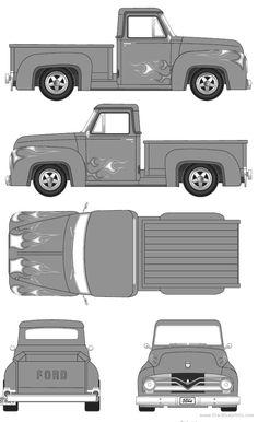 Slot Cars Rc Pedal Automobile Ford Pickup Trucks Models