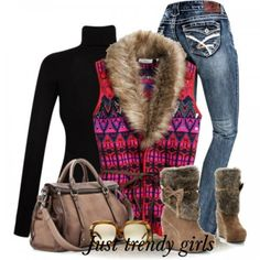 Cozy winter wear in earthy colors | Just Trendy Girls