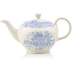 Burleigh Asiatic Pheasant Teapot (400ml) (£43) ❤ liked on Polyvore featuring home, kitchen & dining, teapots, tea-pot, tea pot and burleigh