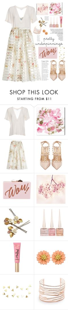 """""""Pretty Wow """" by licethfashion on Polyvore featuring Agent Provocateur, IRO, Oliver Gal Artist Co., Fendi, Valentino, Ted Baker, Christian Louboutin, Too Faced Cosmetics and Alexis Bittar"""