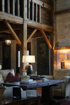 rustic living...20 Stunning Barn Conversions That Will Inspire You to Go Off the Grid! via Brit + Co.