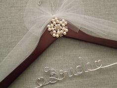 Pearls and Rhinestones  Bridal Hanger