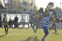 Kopduel - header duel - #voetbal - #football - #soccer in Oliveo A1 - Voorschoten'97 A1