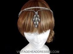 Vintage Wedding Tikka Headdress  Vintage Art by VintageHeaddresses, £160.00