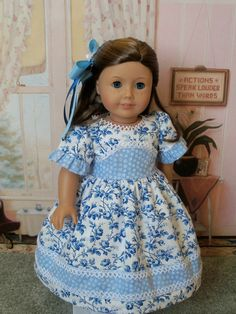 CLEARANCE SALE / American Girl 1800's  Gown / Clothes for Caroline, Marie Grace or Cecile