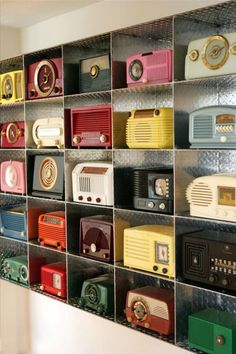 we don't carry vintage radios at the shop in general, but we love collections, and this one is pretty fantastic.