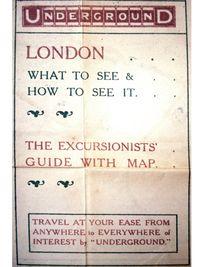1909 London Underground Map