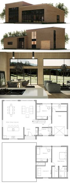Modern Contemporary House Plan CH368