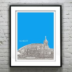 Cardiff Wales Poster  Art Print UK Wales United by AnInspiredImage, $19.00