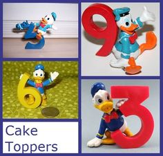 Numbered cake toppers!