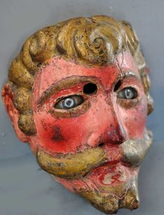 early glass eyed Guatemalan mask. (private collection Linda Pastorino)