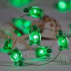 Amazon.com : Impress Life Turtle String Lights, Green Decorative LED Silver Wire 10 ft 40 LEDs with Remote for Indoor, Covered Outdoor, Beach Party Decorations, Summer Holiday, Tent Wedding, Birthday, Bedroom : Garden & Outdoor