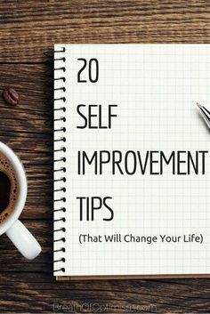 20 self improvement tips
