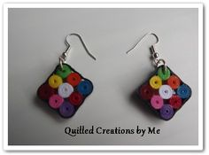 Quilled earrings made by Quilled Creations by Me