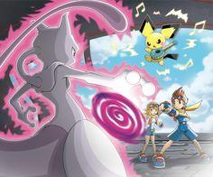 Pokémon Ranger: Guardian Signs - Mewtwo Mew And Mewtwo, Pokemon Mewtwo, Pokemon 20, Cool Pokemon, Pokemon Games, Pokemon Stuff, Pikachu, Pokemon Live, Original Pokemon