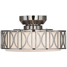 Deco Brushed Nickel Finish Pull Chain Ceiling Fan Light Kit - #U0503 | LampsPlus.com