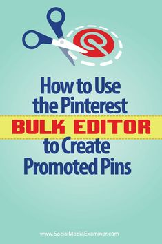 Looking for a faster way to create promoted pins on Pinterest?  Pinterests bulk editor tool makes it easier to create and edit promoted pins and optimize multiple promoted pins at one time.  In this article youll discover how to create promoted pins in