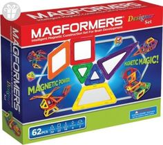 Magformers Designer Set - 62 Pc Magnetic Construction Shapes for Intelligent Building: Design and Build of creative structures with Magformers Designer Set. Complete with 20 Triangles, 22 Squares, 14 Isosceles Triangles, 4 Diamonds, a Magnetic Building Blocks, Building Toys, Black Friday Toy Deals, Best Gifts For Tweens, Magnetic Toys, 4 Diamonds, Tween Girl Gifts, Best Kids Toys, Construction
