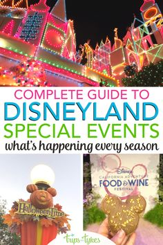 What season is best to visit Disneyland in Anaheim, California? Pick the best time for a trip to the Happiest Place on Earth by consulting this guide to all the seasonal festivals, celebrations, and holidays events each year. With historical date information to help you plan even before Disney releases dates! Disneyland Area Hotels, Disneyland Food, Anaheim California, California Travel, Disney California Adventure, Downtown Disney, Food Festival, Holidays And Events