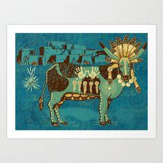 Cowchina Art Print by Laura Brightwood - $15.00