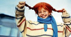Pippi Longstocking, Hug Me, Plaid Scarf, My Hero, Red Hair, Character Inspiration, Netherlands, Growing Up, Knit Crochet