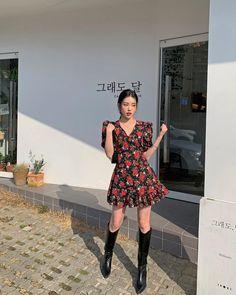 Korean Girl Fashion, Ulzzang Fashion, Asian Fashion, Look Fashion, Fashion Outfits, Pretty Outfits, Cool Outfits, Casual Outfits, Jugend Mode Outfits