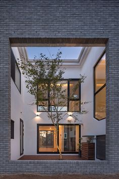 Located in Manhwa-ri, South Korea, the Manhawricano home is designed by Rieuldorang Atelier architects. In this residential project, architect Kim Seongyoul aim Commercial Architecture, Residential Architecture, Interior Architecture, Interior Design, Roof Design, Patio Design, House Design, Grid Design, Atelier Photo
