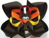 Happy Thanksgiving...Tom Turkey Boutique Hairbow. $6.50, via Etsy.