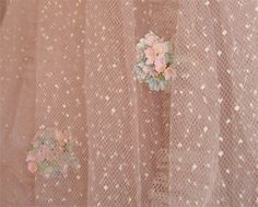 pink prom dress with millinery forget me nots by such pretty things, via Flickr