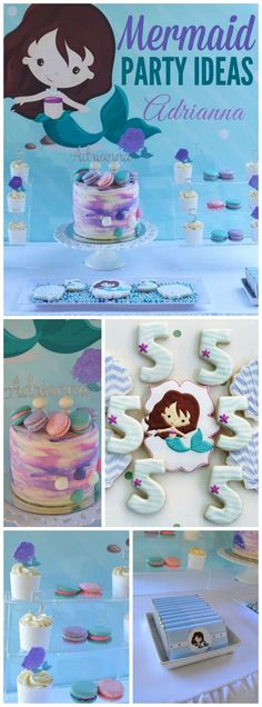 How sweet is this lovely mermaid girl birthday party! See more party ideas at CatchMyParty.com!