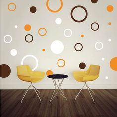 rings dots vinyl wall art design by trendywalldesigns on etsy 995