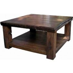 Coffee Table Ideas Love How Bulky Dark And Distressed This Is Also