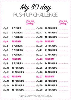 Push up challenge - 30 day pushup challenge for beginners – Push up challenge Workout Plan For Beginners, Running For Beginners, At Home Workout Plan, At Home Workouts, Monthly Workouts, Workout Plans, Running Tips, Work Out Beginners, Trail Running