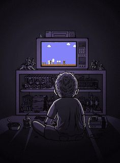 I remember playing Nintendo in the dark with the sound really low, hoping my parents wouldn't wake up. Had to play, even when I was grounded.