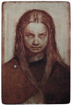 Odd Nerdrum - Pikeportrett | kr 18 000,-